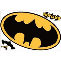 Batman Logo Peel & Stick Giant Wall Decal