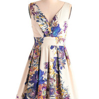 Floral Palate Dress | Mod Retro Vintage Dresses | ModCloth.com