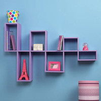 Purple Modular Wall Shelf Unit for Photo&#x27;s and DVD&#x27;s CD&#x27;s Home Teen Room Decor