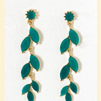 Linear Leaves Earrings