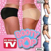 Amazon.com: As Seen on TV Women's Booty Pop Enhancing Panties by Booty Pop (Small, Black): Everything Else