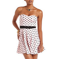 Polka Dot Skater Tube Dress: Charlotte Russe