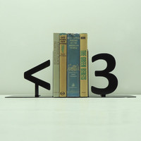 Geek Heart Metal Art Bookends - Free USA Shipping