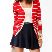 Striped Zippered Cardigan
