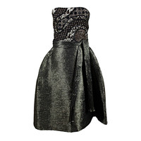 Koos van den Akker - 1990's Koos van den Akker Metallic Brocade Party Dress Ensemble