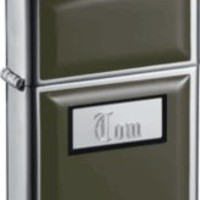 Zippo Ultralite Black Lighter with Free Engraving