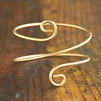 Free People Vintage Metal Spiral Bangle