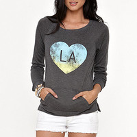 LA Hearts LA Graphic Crew Fleece at PacSun.com