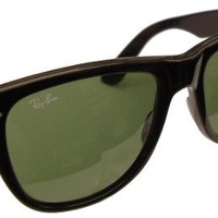 Ray-Ban 'Icons' Original Wayfarer Model 2140 Sunglasses - Black Color Frame with Ray Ban G-15 Safet