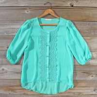Sea Gaze Lace Blouse, Sweet Cozy Lace Tops