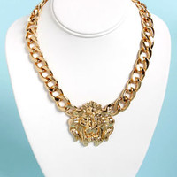 Roar of the Crowd Gold Lion Necklace