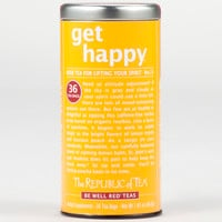 The Republic of Tea Get Happy Be Well Red Tea, 36-Count Tin