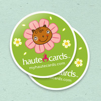 Custom Stickers  Full Color Glossy for your Etsy by hautecards