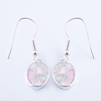 Pink Sterling Silver Drop Earrings at Online Jewelry Store Gofavor