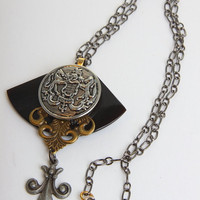 Honour steampunk necklace one of a kind ooak by WakeUpTheAngel