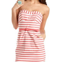 Stylist&#x27;s Pick: Belted Stripe Tube Dress: Charlotte Russe