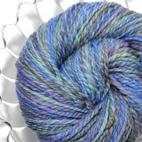 Handspun Yarn - Waterfall - Falkland Wool, Worsted Weight, 187 yards
