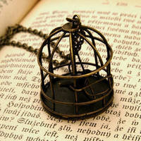 Brass Bird Cage - $20.00 : RagTraderVintage.com, Handmade Indie Retro Accessories