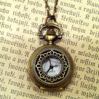 Brass Pocket Watch Necklace number 3 - $30.00 : RagTraderVintage.com, Handmade Indie Retro Accessories