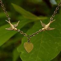 Love Birds Necklace - $20.00 : RagTraderVintage.com, Handmade Indie Retro Accessories