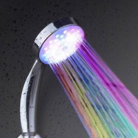 Amazon.com: New Temperature Senor Control RGB LED Light Water Shower Head No Battery Needed: Home &amp; Kitchen