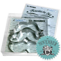 Mustache Cookie Cutter Set by FuzzyInk on Etsy