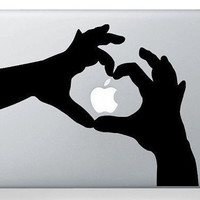 Love hands macbook decal macbook sticker Apple mac by terryzhong