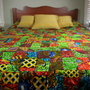 Duvet Cover Queen Size - Dutch Wax Bedspread - African Patchwork Tribal Print