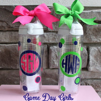 Preppy Personalized Monogram Tervis water bottle
