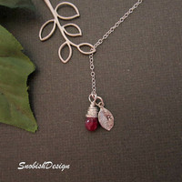 Personalized Jewelry  Custom Birthstone  Initial by SnobishDesign