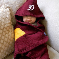 Mrs Weasley's Knitted Harry Potter Baby Blanket by eChoLovelySound