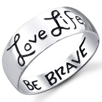 Footnotes Love Life, Be Brave Ring 8 Ring