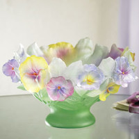 Pansies Bowl - Furniture, Home Decor & Home Furnishings, Home Accessories & Gifts | Expressions