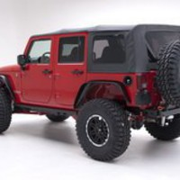 Smittybilt 9970235 Black Diamond OE Style Replacement Top with Tinted Window for Jeep Wrangler
