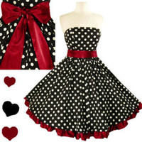 POLKA DOT Rockabilly 50s FULL SKIRT Swing Dress S M L XL 2X 3X New Strapless POLKA DOT Rockabilly 50s FULL SKIRT Swing Dress S M L XL 2X 3X New Strapless - eBay (item 300659404637 end time Mar-04-12 07:24:17 PST)