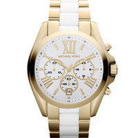 Michael Kors Mid-Size Two-Tone Bradshaw Chronograph Watch - Michael Kors