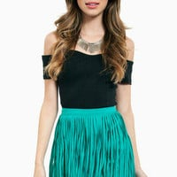 Fringe Kiss Skirt $30