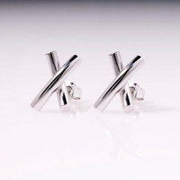 X means Love 925 Sterling silver earrings by TorkkeliJewellery