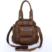 Unique Vintage Tan Leather Dark Brown Handbag Backpack Bag products, buy Unique Vintage Tan Leather Dark Brown Handbag Backpack Bag products from alibaba.com