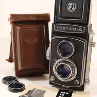 Yashica A1 TLR w/Case Manual Lens Cap by FotoRetro on Etsy