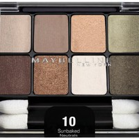 Maybelline New York Expert Wear Eyeshadow 8-Pan, Sunbaked Neutrals 10, 0.22 Ounce