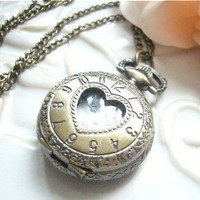 Amazon.com: Vintage Jewelry - Vintage Petite Heart Shaped Quartz Locket Watch Necklace - Boxed & Gift Wrapped: Jewelry