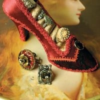 Victorian trading Co. - www.victoriantradingco.com - Shoe Ring Holder &amp; Ivory Rhinestone Ring