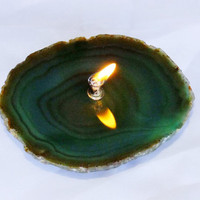 Green Agate Candle by donkensinger on Etsy