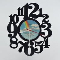 Wall Clock Retro vinyl record album (artist is Tiffany)