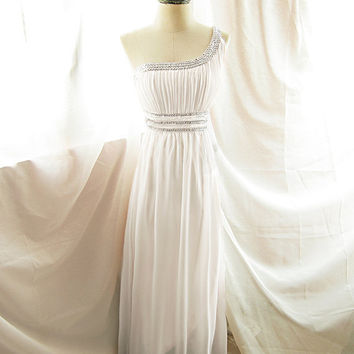 White Prom Bridal Wedding Angel Long Dress by RiverOfRomansk