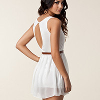 Chiffon Detail Open Back Dress, Club L