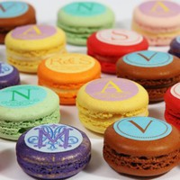 Custom Macaron Toppers- Monogram - Rogue Confections