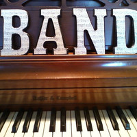 BAND Wood Letters by Jaybjay on Etsy