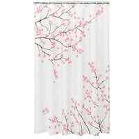 Home Classics Cherry Blossom Fabric Shower Curtain